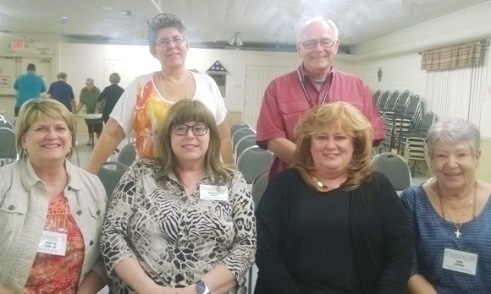 L to R back row:  Deb Rychlak and Ward Jennings; L to R front row:  Johna Sharp, Donna May, Laura Suman and Ann Lopez