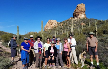 Hikers on Willow Springs Trail.  March 4, 2019