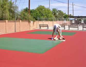 Applying the court green