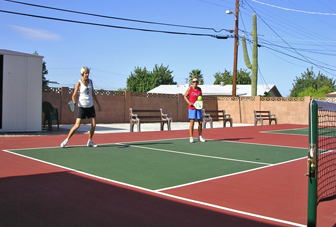 Courts in use!